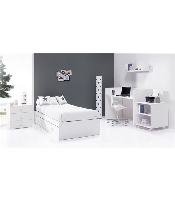 CUNA CONVERTIBLE SERO BUBBLE BLANCO MATE CON CAMA NIDO - K554NM7700B