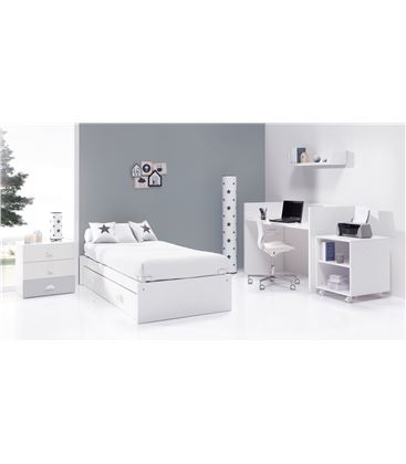 CUNA CONVERTIBLE SERO BUBBLE GRIS MATE CON CAMA NIDO - K554NM7778C