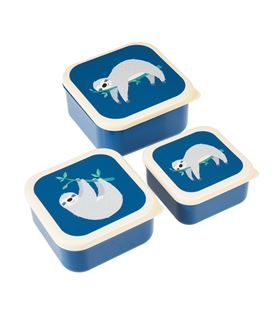 SET DE 3 TUPPERS DE SNACKS SYDNEY EL OSO PEREZOSO - SET3TUPPERSPEREZOSO