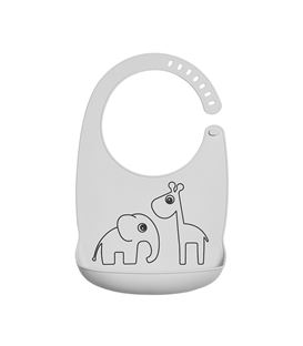 BABERO SILICONA DEER FRIENDS GRIS - 1309895