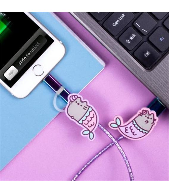 CABLE USB GATITOS SIRENA - PUSHUSBME