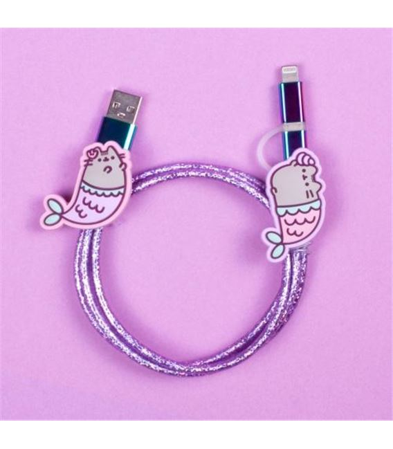 CABLE USB GATITOS SIRENA - PUSHUSBME1
