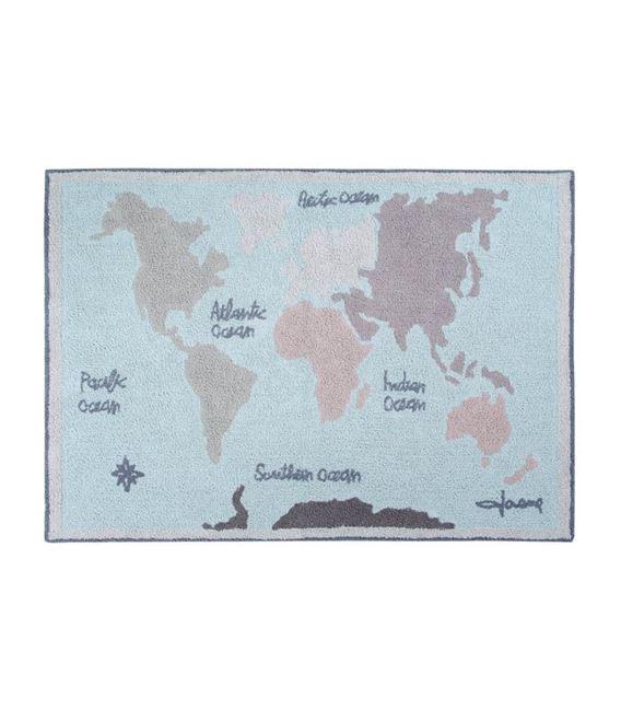 ALFOMBRA LAVABLE VINTAGE MAP - C-VINTMAP_1
