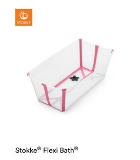 BAÑERA PLEGABLE FLEXI BATH TRANSPARENTE ROSA - FLEXIBATHROSA