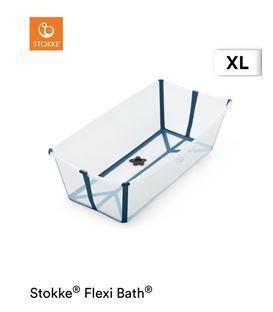 BAÑERA PLEGABLE FLEXI BATH XL TRANSPARENTE AZUL - FLEXIBATHAZULXL