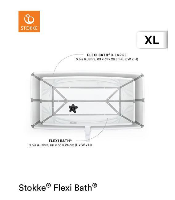 BAÑERA PLEGABLE FLEXI BATH XL TRANSPARENTE AZUL - FLEXIBATHAZULXL2