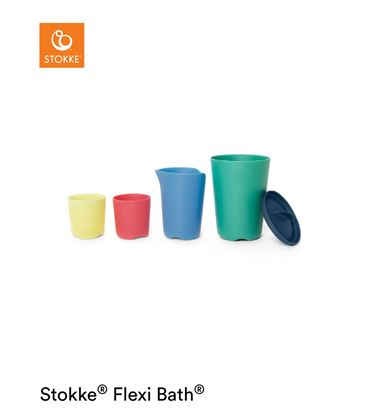TOY CUPS MULTICOLOR FLEXI BATH STOKKE - TOYCUPSBUENO