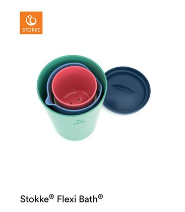 TOY CUPS MULTICOLOR FLEXI BATH STOKKE - TOYCUPSBUENO1