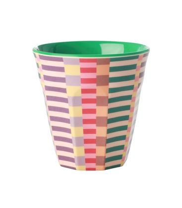 VASO MEDIANO MELAMINA SUMMER STRIPES - VASOMEDIANOSTRIPES