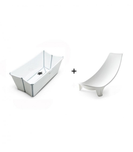 PACK BAÑERA PLEGABLE FLEXI BATH BLANCA + SOPORTE