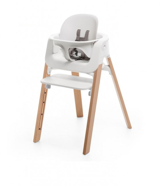 TRONA STOKKE STEPS NATURAL CON BABY SET BLANCO Y NEWBORN SET
