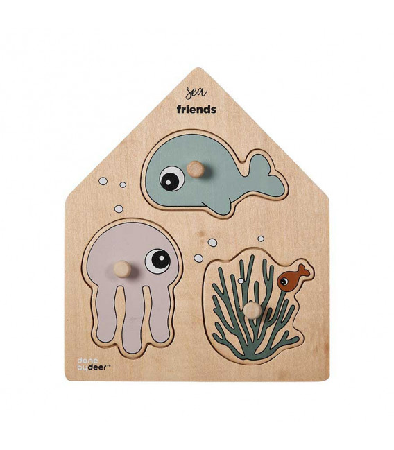 PUZZLE SEA FRIENDS COLOUR MIX