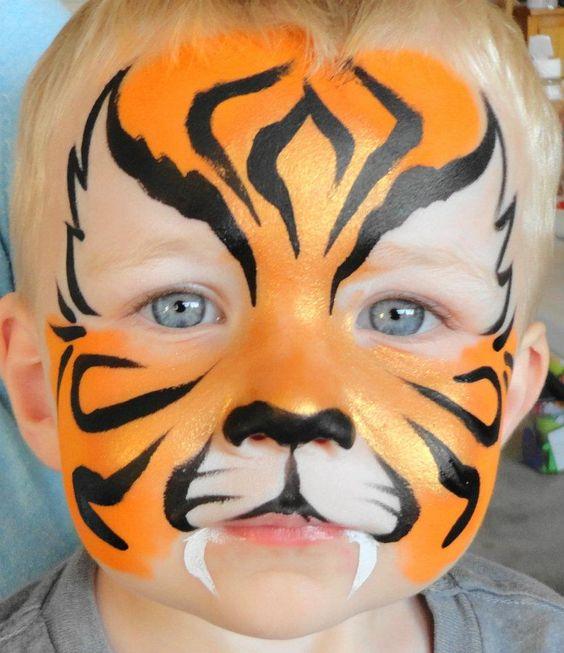 maquillaje infantil tigre