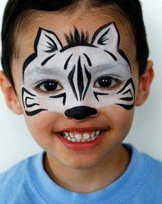maquillaje infantil cebra