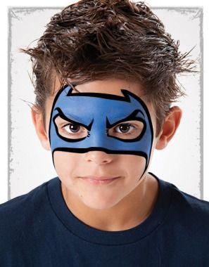 maquillaje niño superheroe