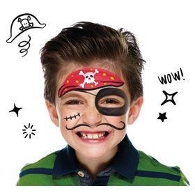 maquillaje infantil pirata