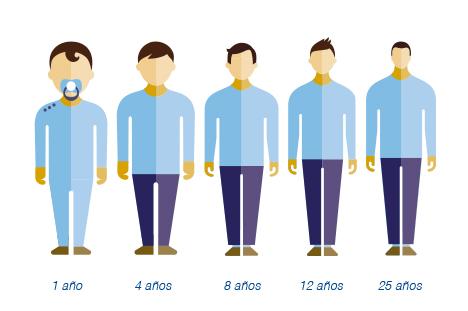 proporciones niños