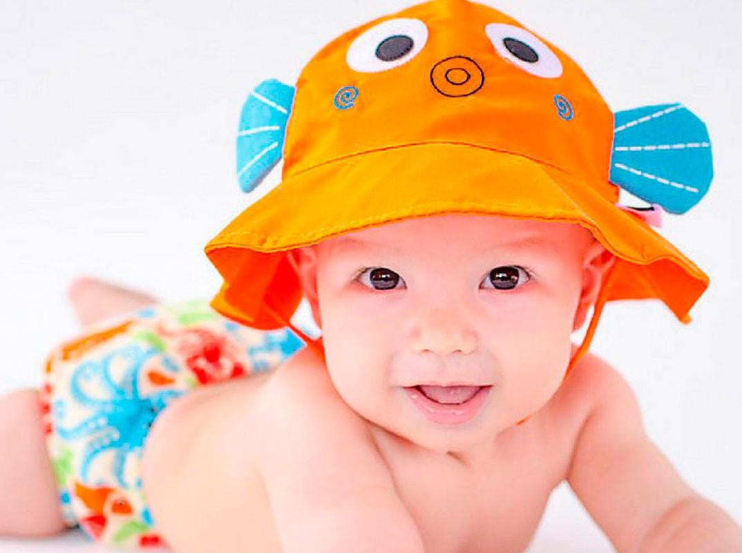 banador con sombrero bebe
